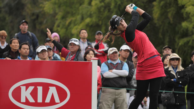 Sandra Gal tee shot at 18 final round