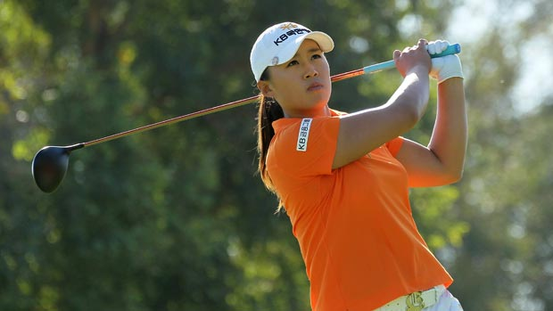 Amy Yang at the 2012 Kraft Nabisco Championship