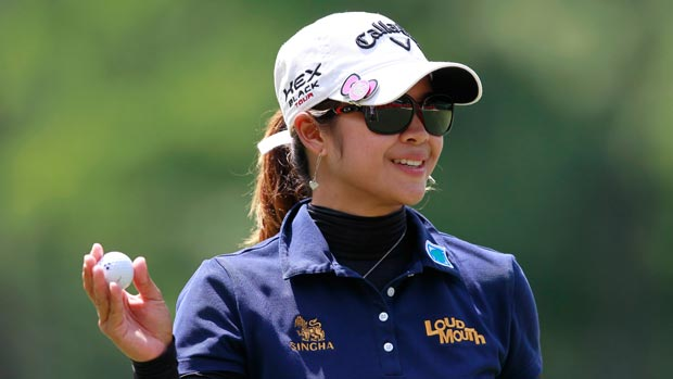 Pornanong Phatlum during the third round of the Mobile Bay LPGA Classic