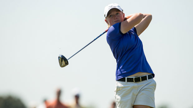 Stacy Lewis during the First Round of the 2012 Navistar LPGA Classic