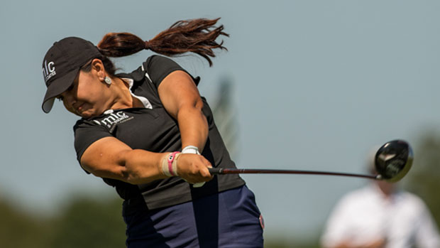 Lizette Salas during the First Round of the 2012 Navistar LPGA Classic