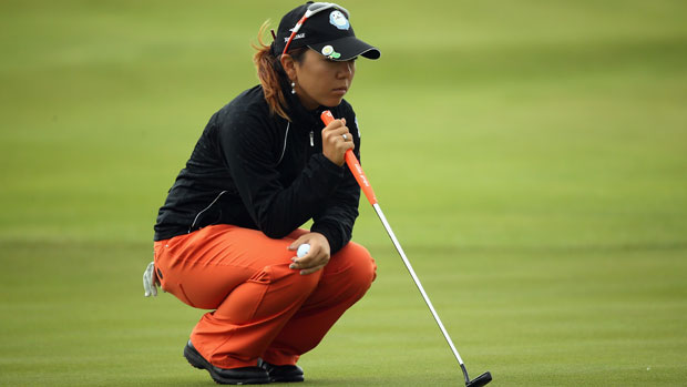Mika Miyazato during the final day at the RICOH Women's British Open