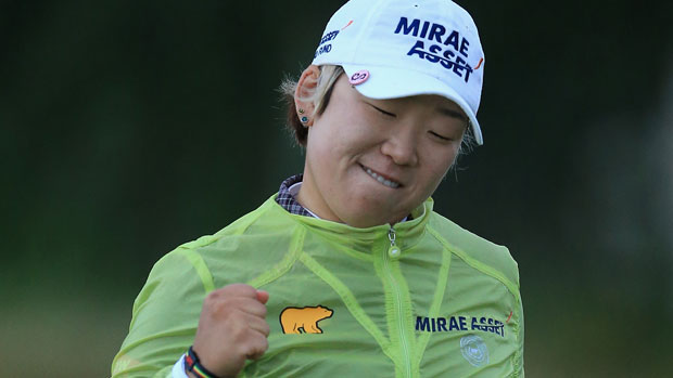 Jiyai Shin on the final day of the RICOH Women's British Open