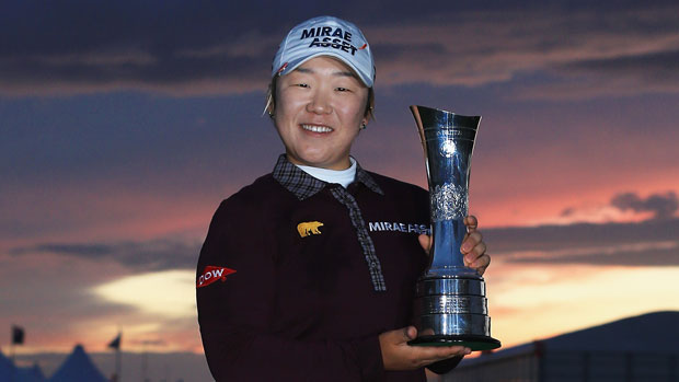 Jiyai Shin trophy shot at the RICOH Women's British Open