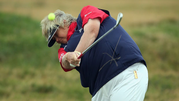 Laura Davies during the second round at the RICOH Women's British Open