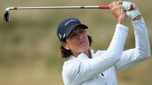 Juli Inkster during the second round at the RICOH Women's British Open