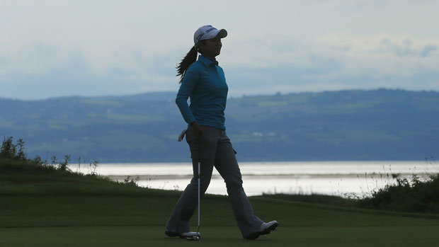 Ai Miyazato duriing the second round at the RICOH Women's British Open