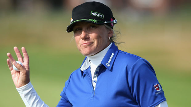 Karen Stupples during the second round at the RICOH Women's British Open