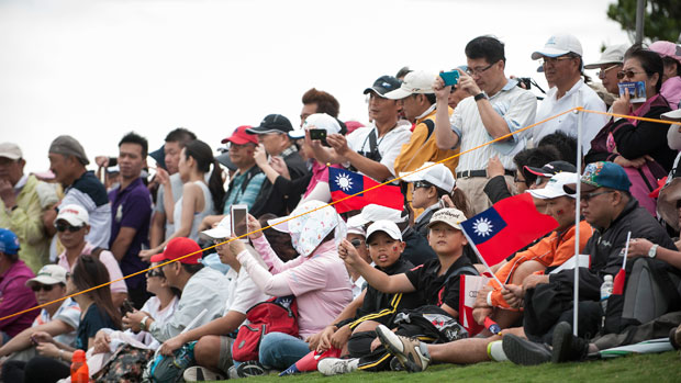 Taiwan crowd during the Third Round of the 2012 Sunrise LPGA Championship presented by Audi