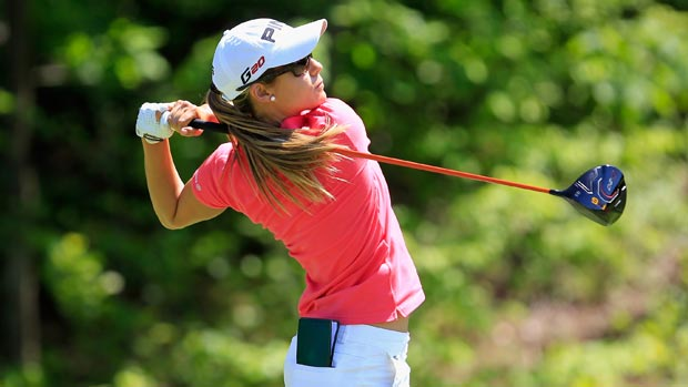 Azahara Munoz during the Sybase Match Play Championship final round