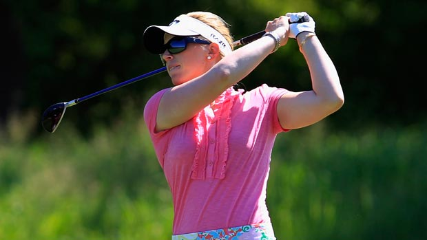 Morgan Pressel during the Sybase Match Play Championship consolation match
