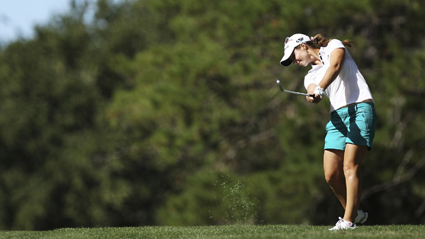 Beatriz Recari during final round at ISPS Handa Women's Australian Open.