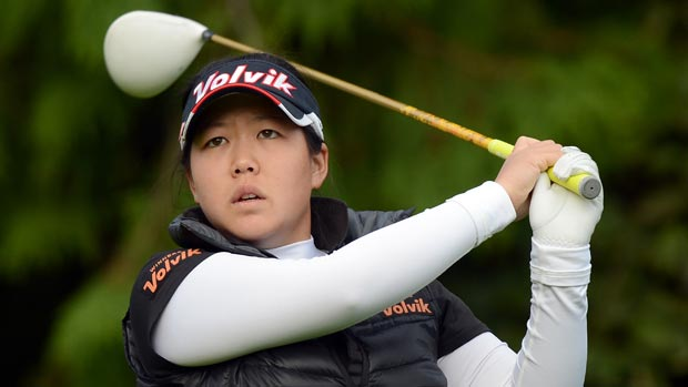 Christine Song during the first round of the 2012 CN Canadian Women's Open