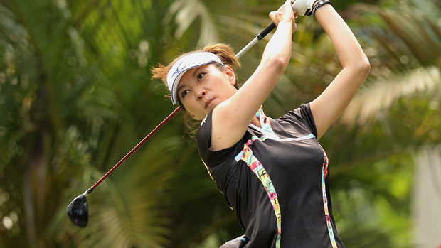 Amy Hung during the final round at the HSBC LPGA Brasil Cup 2012
