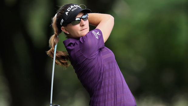 Brittany Lang during the final round at the HSBC LPGA Brasil Cup 2012