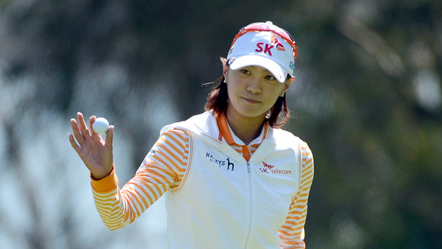 Na Yeon Choi during the final round of the Kia Classic