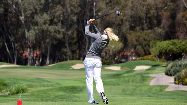 Suzann Pettersen during the final round of the Kia Classic