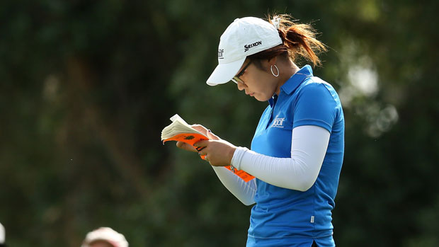 Lydia Ko during the First Round of the 2013 Kraft Nabisco Championship