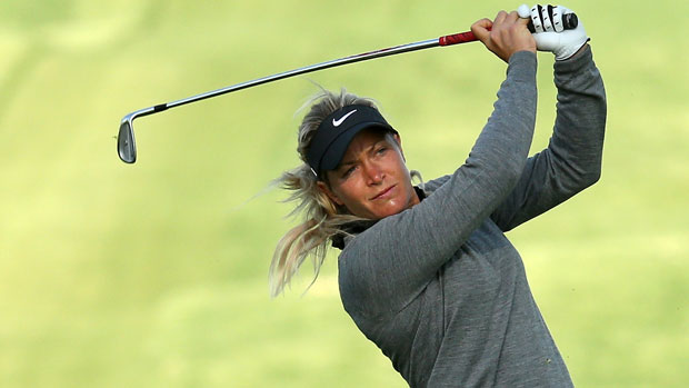 Suzann Pettersen during the First Round of the 2013 Kraft Nabisco Championship