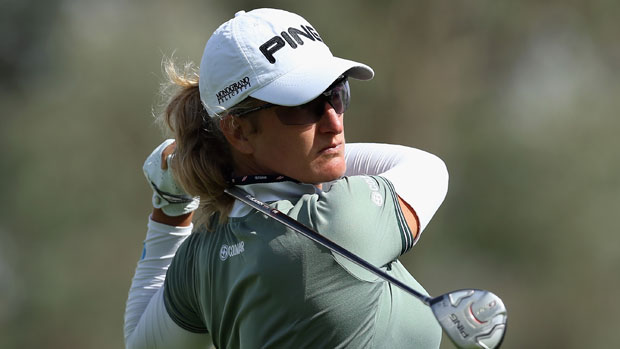 Giulia Sergas during the First Round of the 2013 Kraft Nabisco Championship