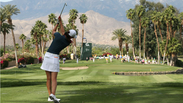 Michelle Wie during the First Round of the 2013 Kraft Nabisco Championship