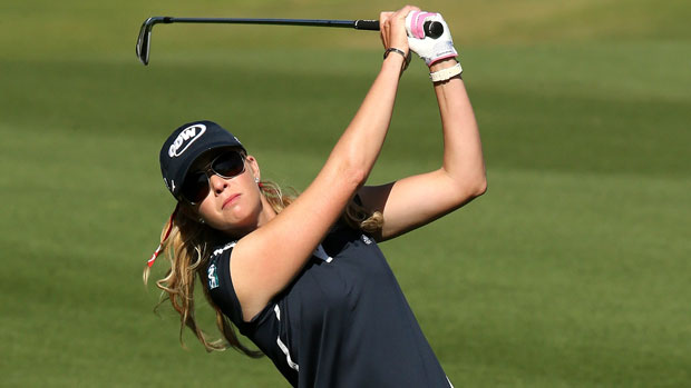 Paula Creamer during the Second Round of the 2013 Kraft Nabisco Championship