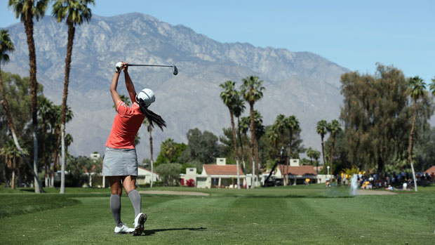 Ai Miyazato during the Second Round of the 2013 Kraft Nabisco Championship