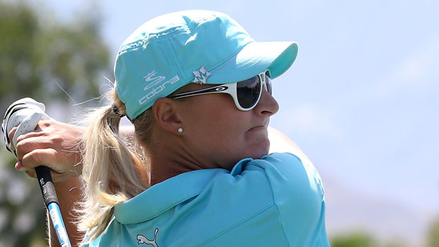 Anna Nordqvist during the Second Round of the 2013 Kraft Nabisco Championship