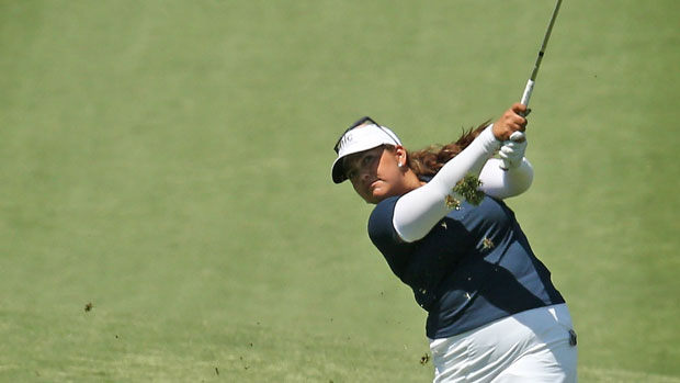 Lizette Salas during the Second Round of the 2013 Kraft Nabisco Championship