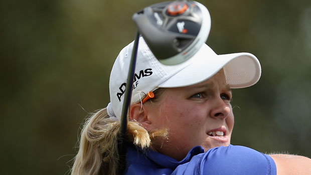 Caroline Hedwall during the final round of the 2013 Kraft Nabisco Championship