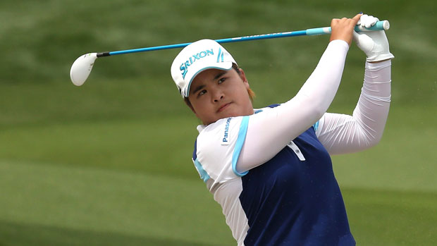 Inbee Park during the final round of the 2013 Kraft Nabisco Championship