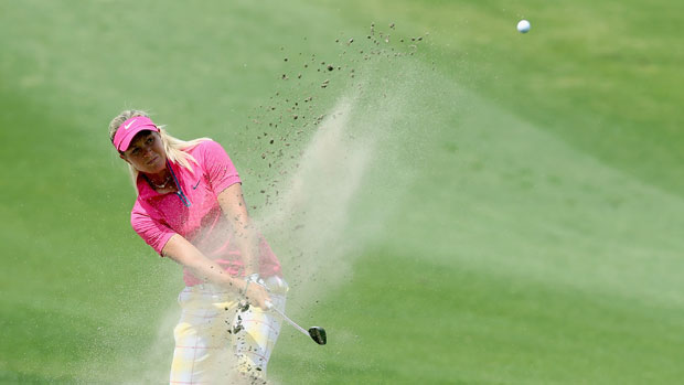 Suzann Pettersen during the final round of the 2013 Kraft Nabisco Championship