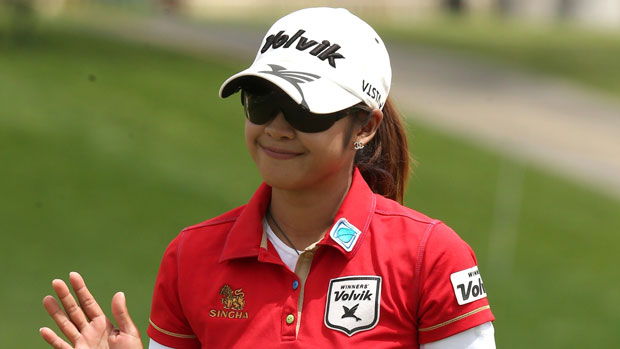 Pornanong Phatlum during the final round of the 2013 Kraft Nabisco Championship