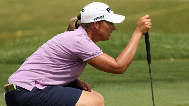 Angela Stanford during the final round of the 2013 Kraft Nabisco Championship