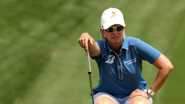 Karrie Webb during the Final Round of the 2013 Kraft Nabisco Championship