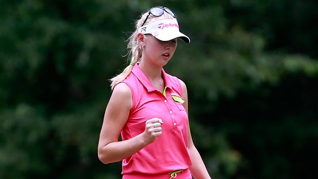 Jessica Korda during the final round of the Mobile Bay LPGA Classic