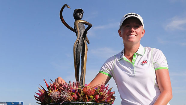 Stacy Lewis after winning the RR Donnelley LPGA Founders Cup