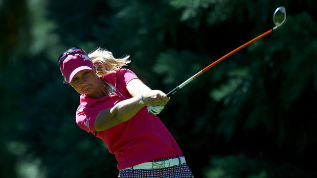 Anna Nordqvist during the third-round of the Safeway Classic Presented by Coca-Cola