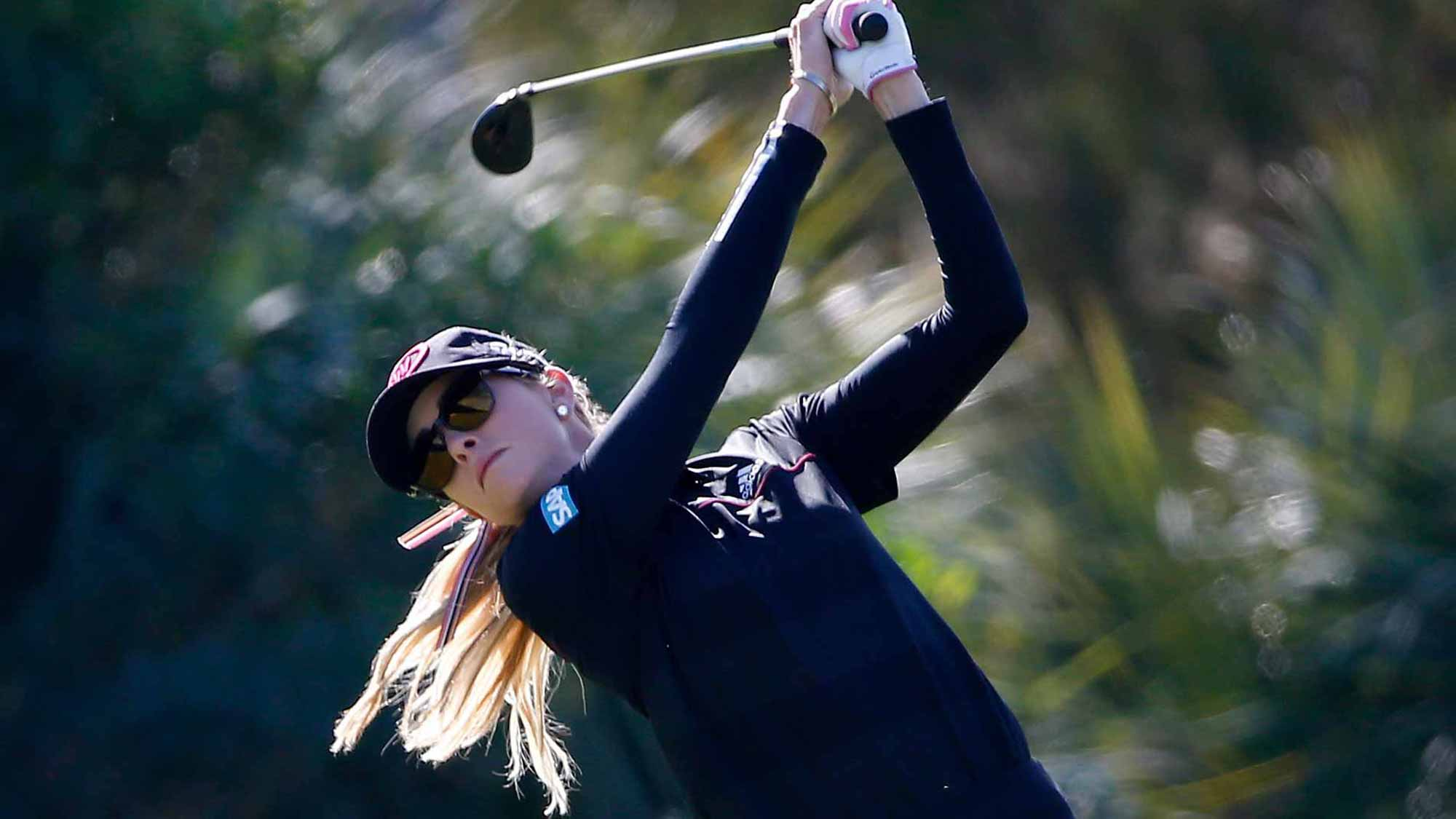 Paula Creamer during the first round of the CME Group Tour Championship