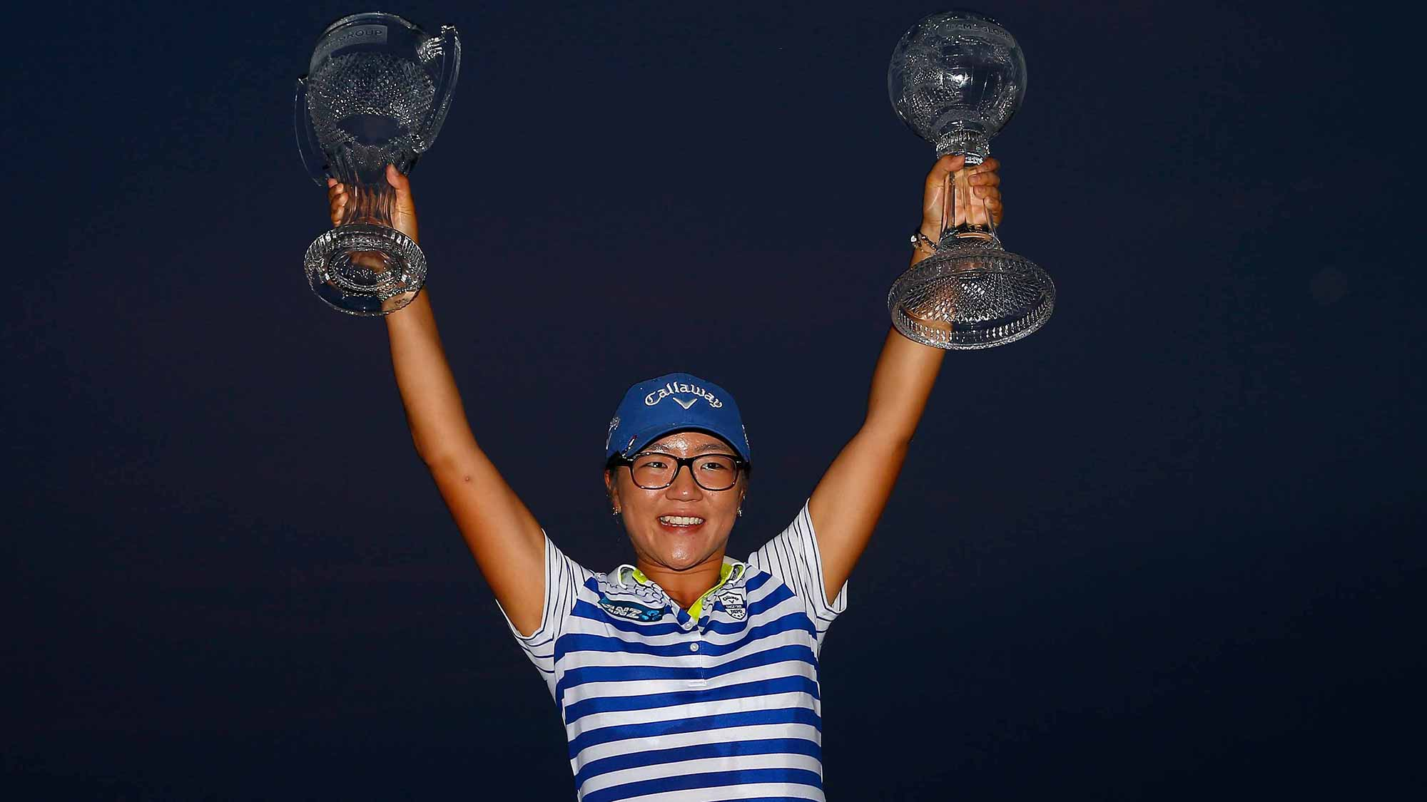 Lydia Ko after winning the CME Group Tour Championship