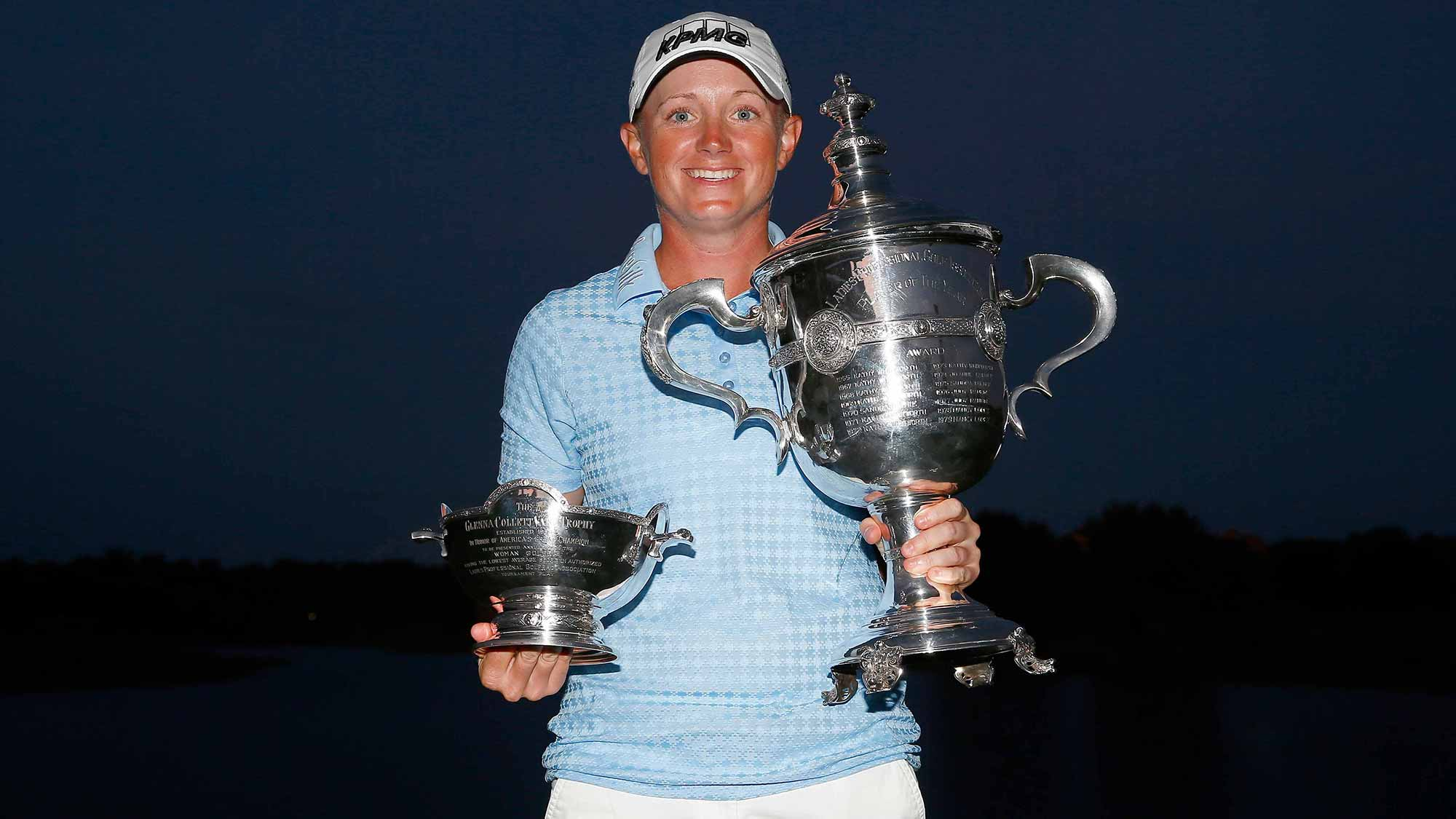 Stacy Lewis after clinching Vare Trophy and Player of the Year