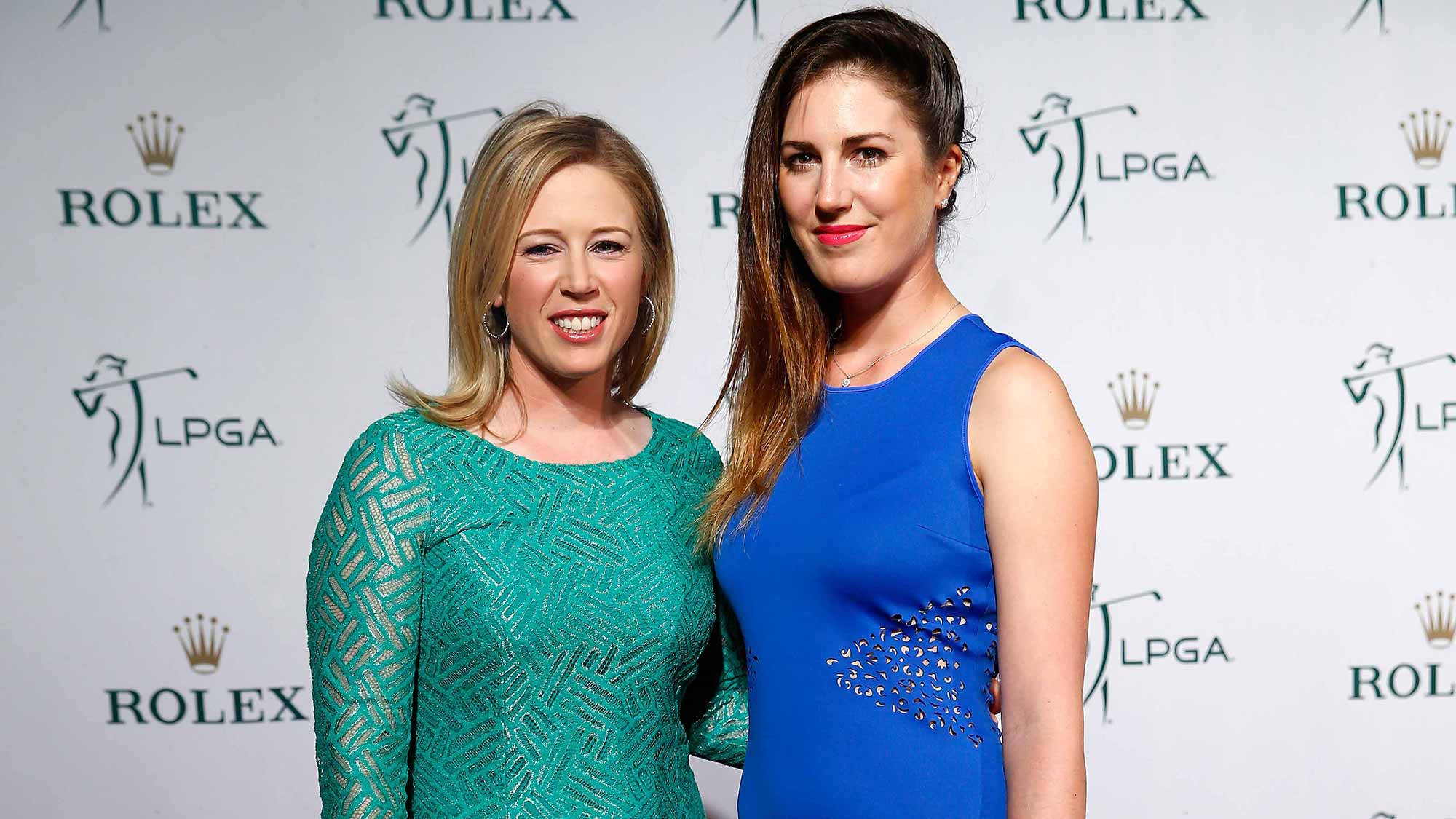 Morgan Pressel and Sandra Gal during the Rolex Player Awards
