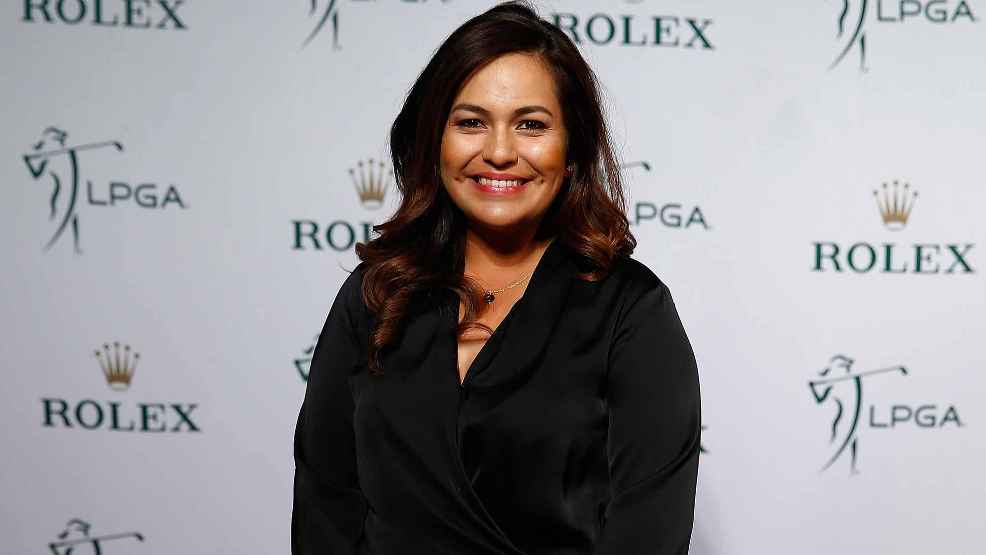 Lizette Salas during the Rolex Player Awards