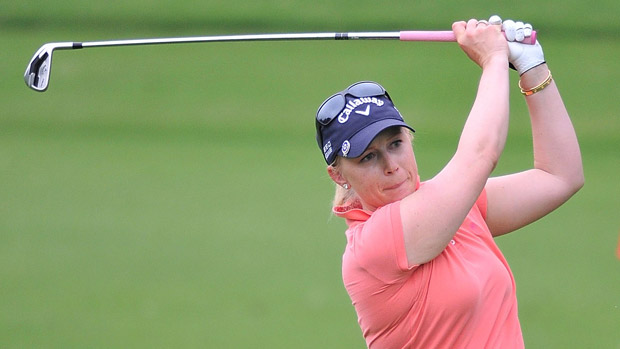Morgan Pressel during the first round of the Honda LPGA Thailand