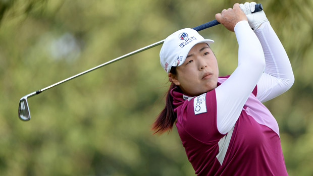 Shanshan Feng during the second round of the HSBC Women's Champions