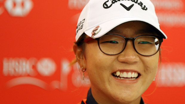 Lydia Ko speaks to the media following the HSBC Women's Champions pro-am