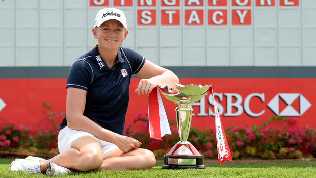 Stacy Lewis during the pro-am event prior to the HSBC Women's Champions
