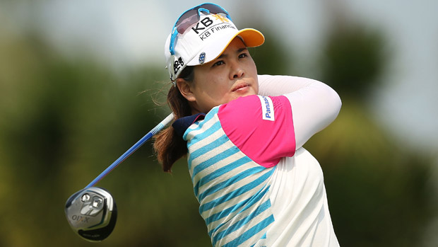 Inbee Park during the Pro Am event prior to the start of the HSBC Women's Champions
