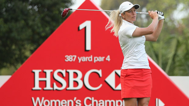 Suzann Pettersen during the Pro Am event prior to the start of the HSBC Women's Champions