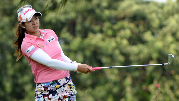 Pornanong Phatlum during the second round of the HSBC Women's Champions